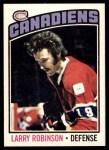 1976 O-Pee-Chee NHL #151  Larry Robinson  Front Thumbnail