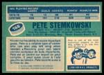 1976 O-Pee-Chee NHL #166  Pete Stemkowski  Back Thumbnail