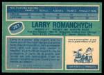 1976 O-Pee-Chee NHL #281  Larry Romanchych  Back Thumbnail