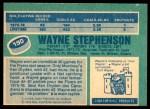 1976 O-Pee-Chee NHL #190  Wayne Stephenson  Back Thumbnail