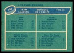 1976 O-Pee-Chee NHL #386   -  Marcel Dionne / Dave Hutchison / Mike Corrigan Kings Leaders Back Thumbnail