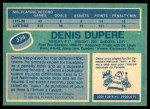 1976 O-Pee-Chee NHL #334  Denis Dupere  Back Thumbnail