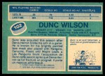 1976 O-Pee-Chee NHL #102  Dunc Wilson  Back Thumbnail