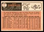 1966 Topps #137  Pat Corrales  Back Thumbnail
