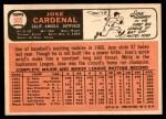 1966 Topps #505  Jose Cardenal  Back Thumbnail