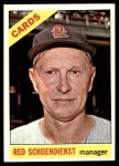 1966 Topps #76  Red Schoendienst  Front Thumbnail