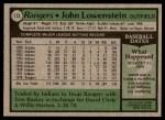 1979 Topps #173  John Lowenstein  Back Thumbnail