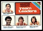 1975 Topps #123   -  Rudy Tomjanovich / Calvin Murphy / Kevin Kunnert / Mike Newlin Rockets Team Leaders Front Thumbnail