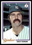 1978 Topps #179  Dick Tidrow  Front Thumbnail