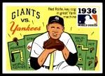 1971 Fleer World Series #34   1936 Yankees / Giants  (Red Rolfe) -   Front Thumbnail