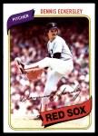 1980 Topps #320  Dennis Eckersley  Front Thumbnail