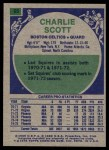 1975 Topps #65  Charlie Scott  Back Thumbnail
