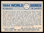 1970 Fleer World Series #41   1944 Cardinals vs. Browns Back Thumbnail