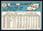 1965 Topps #220  Billy Williams  Back Thumbnail