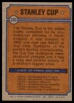 1974 Topps #250   Flyers Stanley Cup Back Thumbnail