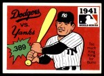 1971 Fleer World Series #39   1941 Yankees / Dodgers -   Front Thumbnail