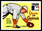 1971 Fleer World Series #24   1926 Cardinals / Yankees  (Rogers Hornsby) -   Front Thumbnail