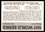 1971 Fleer World Series #15   1917 White Sox / Giants  (Red Faber) -   Back Thumbnail