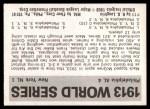 1971 Fleer World Series #11   1913 A's / Giants  (Christy Mathewson) -   Back Thumbnail