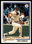 1978 Topps #485  Chris Chambliss  Front Thumbnail