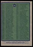 1975 Topps #257   Checklist Back Thumbnail
