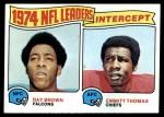 1975 Topps #5   -  Emmitt Thomas / Ray Brown Interception Leaders Front Thumbnail