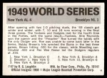 1971 Fleer World Series #47   1949 Yankees / Dodgers  (Preacher Roe) -   Back Thumbnail