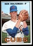 1967 Topps #185  Ken Holtzman  Front Thumbnail
