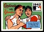 1971 Fleer World Series #40   1942 Cardinals / Yankees -   Front Thumbnail