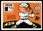 1971 Fleer World Series #8   1910 A's / Cubs  (Eddie Collins) -   Front Thumbnail
