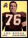 1959 Topps #60  Lou Groza  Front Thumbnail