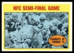 1972 Topps #134  Duane Thomas / Jim Marshall NFC Semi-Final Game Front Thumbnail