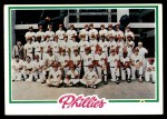 1978 Topps #381   Phillies Team Checklist Front Thumbnail
