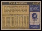 1971 Topps #1  Oscar Robertson   Back Thumbnail