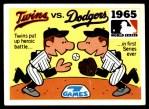 1971 Fleer World Series #63   1965 Dodgers / Twins -   Front Thumbnail