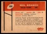 1960 Fleer #100  Mel Branch  Back Thumbnail