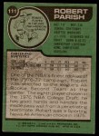 1977 Topps #111  Robert Parish  Back Thumbnail