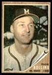 1962 Topps #130 GRN Frank Bolling  Front Thumbnail