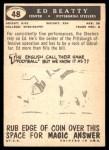1959 Topps #48  Ed Beatty  Back Thumbnail
