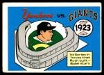 1970 Fleer World Series #20   -  Babe Ruth 1923 Yankees vs. Giants   Front Thumbnail
