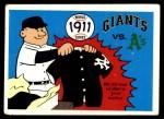 1970 Fleer World Series #8   -  John McGraw 1911 A's vs. Giants   Front Thumbnail