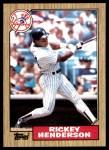 1987 Topps #735  Rickey Henderson  Front Thumbnail