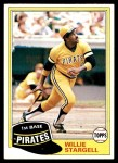 1981 Topps #380  Willie Stargell  Front Thumbnail