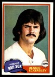 1981 Topps #620  Dennis Eckersley  Front Thumbnail