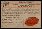 1953 Bowman #82  Jerry Shipkey  Back Thumbnail