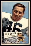 1952 Bowman Large #105  Lou Groza  Front Thumbnail