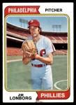 1974 Topps #342  Jim Lonborg  Front Thumbnail