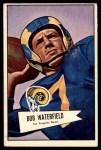 1952 Bowman Large #137  Bob Waterfield  Front Thumbnail