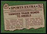 1976 Topps Traded #380 T Bobby Bonds  Back Thumbnail