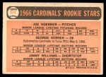 1966 Topps #544   -  Joe Hoerner / George Kernek / Jimmy Williams Cardinals Rookies Back Thumbnail